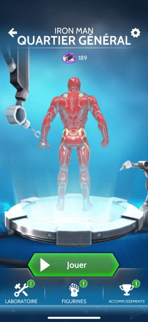 capture appli Hero Vision pour Casque Hasbro Iron Man AR 1