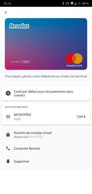 Revolut Google Pay OnePlus 6 captures (1)