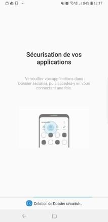 Dossier sécurisé Galaxy Note 9 a
