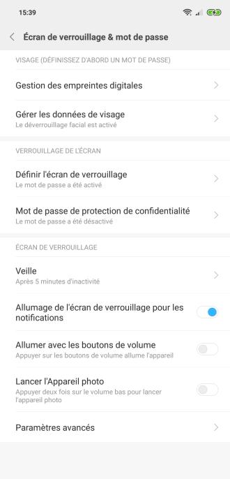 Xiaomi Mi 8 MIUI biometrie (1)