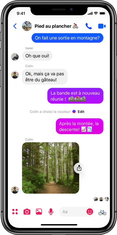 Messenger 4 - Group Chat - iOS FR