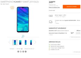 Huawei P Smart 2019 prix