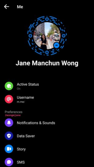 Facebook Messenger dark ui 4