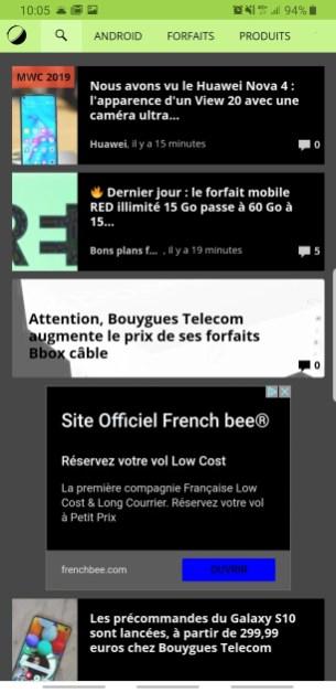 Chrome thème sombre Android 2
