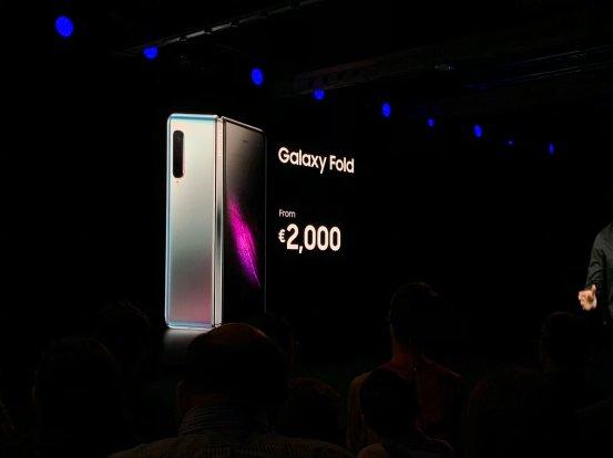 Samsung Galaxy Fold 2000 euros