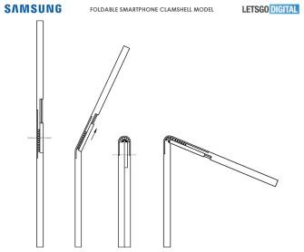 Samsung smartphone pliable brevet