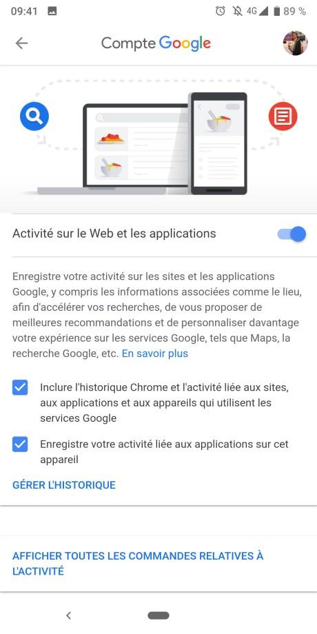 DOnnées Google 4