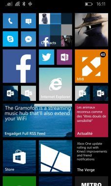 Windows Phone 8.1 lanceur UI 1