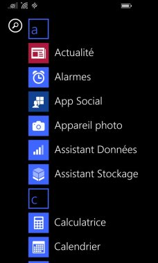 Windows Phone 8.1 lanceur UI 3