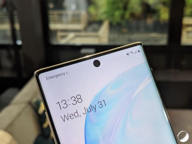 Samsung Galaxy Note 10 encoche