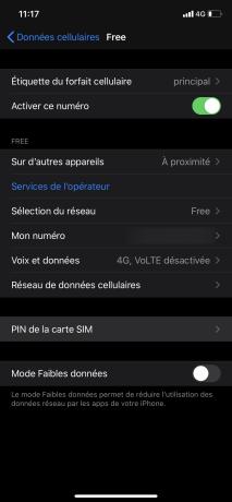 Changer PIN iphone 3