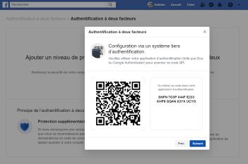 Facebook double authentification 3