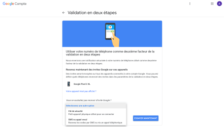 Google Double authentification 2