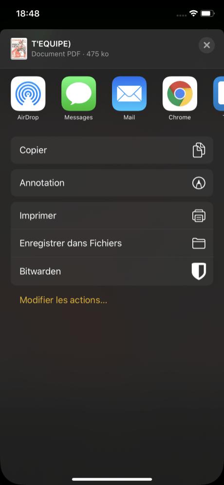 Scanner document iphone 5