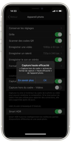 iPhone 11 Camera UI parametres (2)