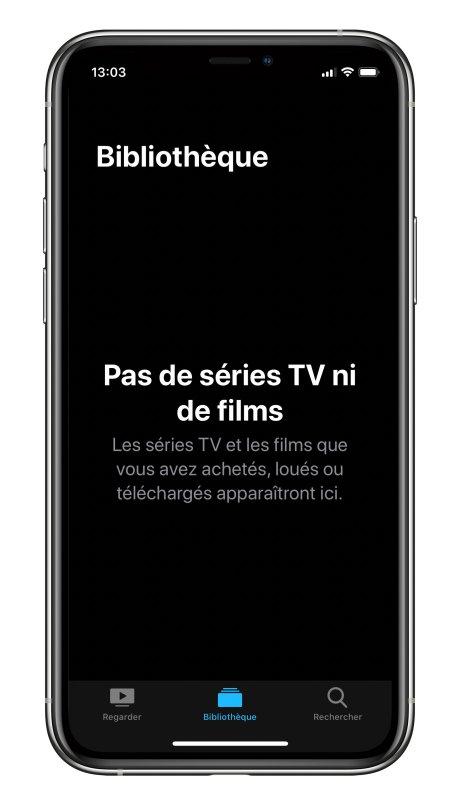 Apple TV blibliothèque