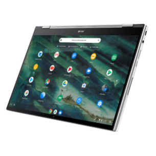 Chromebook Flip_C436_Aerogel White_Tablet mode