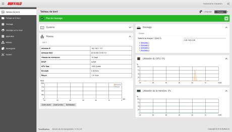 Buffalo TeraStation - 1 - Interface web