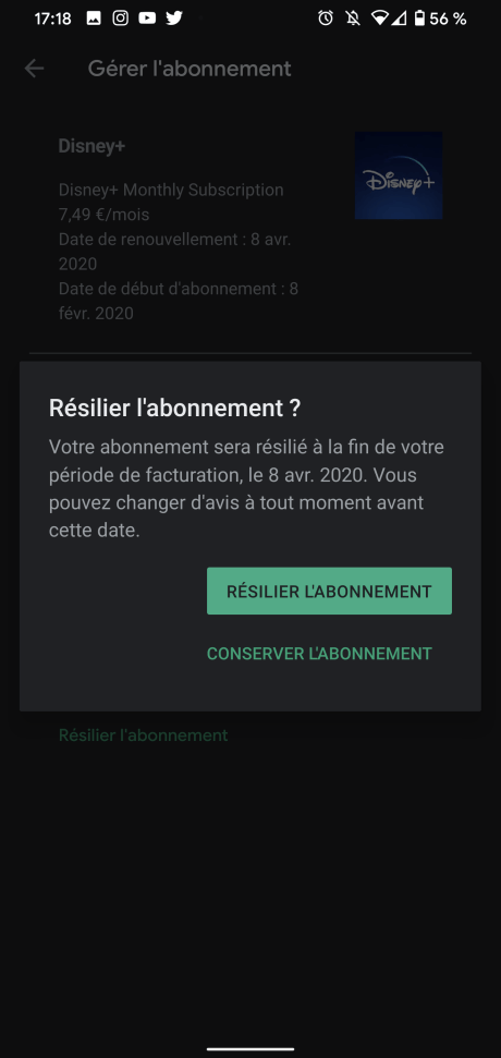 Résilier Play Store 6