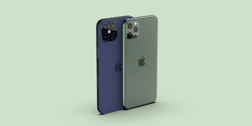 Un iPhone 12 Pro à côté d'un iPhone 11 Pro