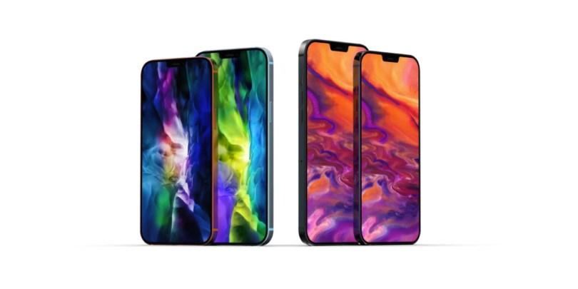 Les quatre modèles d'iPhone 12