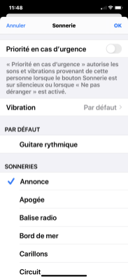 Sonnerie iPhone 6