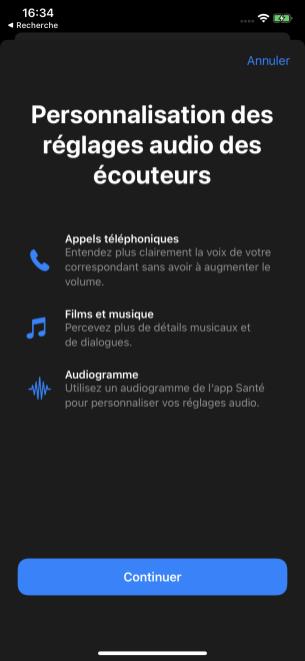 Les options de personnalisation des réglages audio dans iOS 14