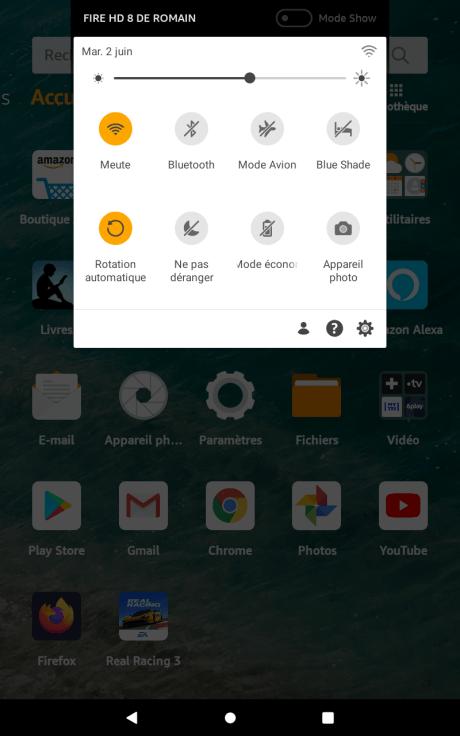Captures d'écran Amazon Fire OS 7 7