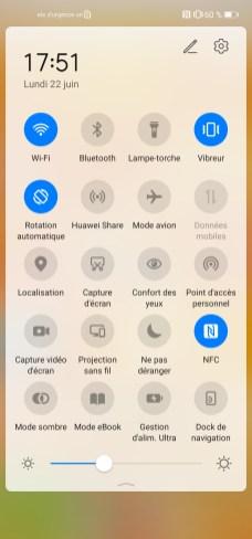 Huawei P40 Lite raccourcis