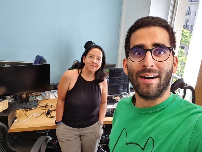 Omar Belkaab et Melinda Davan-Soulas