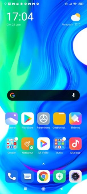 Xiaomi Poco F2 Pro accueil