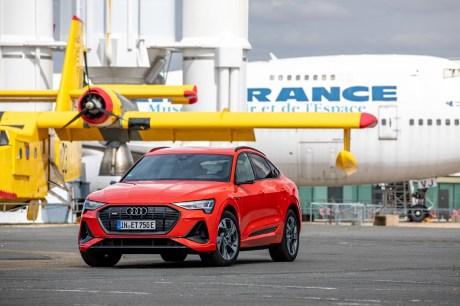 L'Audi e-tron Sportback de face // Source: Étienne Rovillé pour Audi France