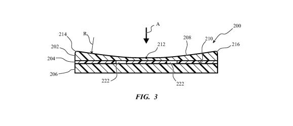 Le brevet déposé par Apple pour une touche de clavier en verre // Source : Apple / USPTO