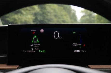 Le système d'instrumentation de la Honda e // Source: Yann Lethuillier pour Frandroid