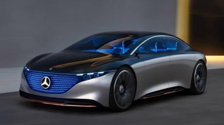 La Mercedes EQS sous sa forme de show car