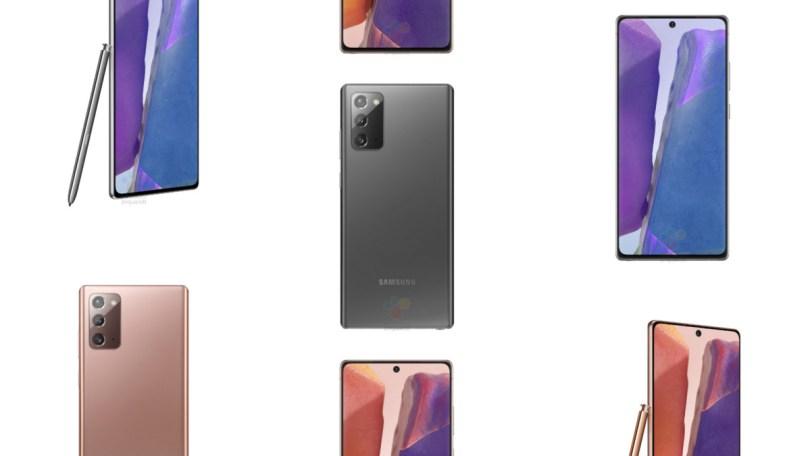 Le design attendu du Galaxy Note 20