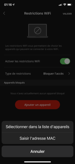 Application Freebox Connect 00002