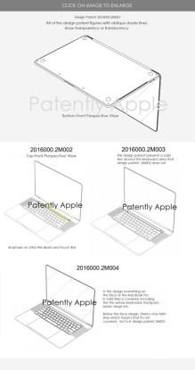 Un brevet de conception obtenu par Apple pour des bords fins sur un MacBook Pro // Source : Patently Apple