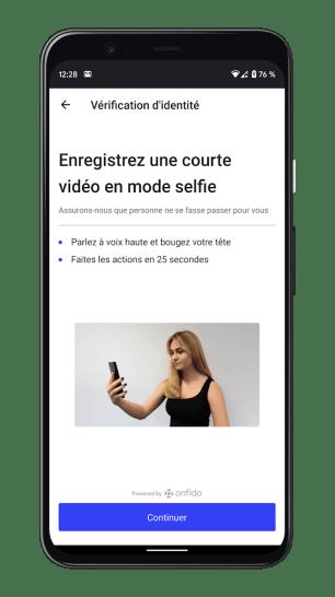 Bunq Travel - Inscription Selfie
