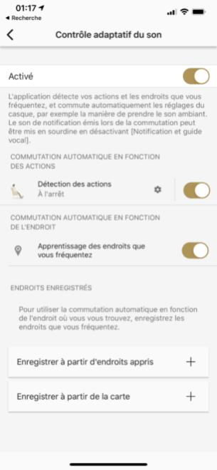L'application Headphone Connect de Sony