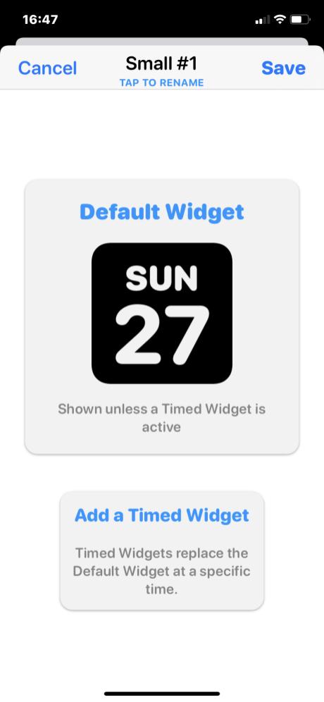 iOS Widgets 15