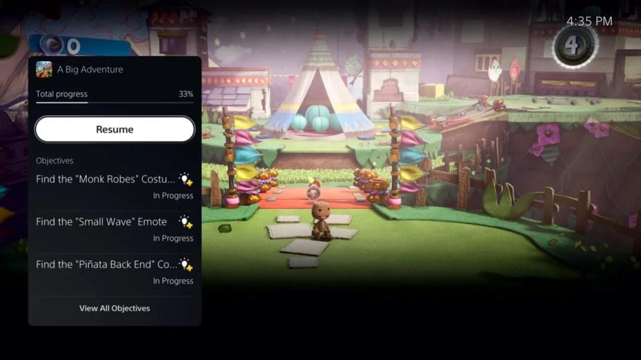 P5 interface PlayStation 5 aide vidéo