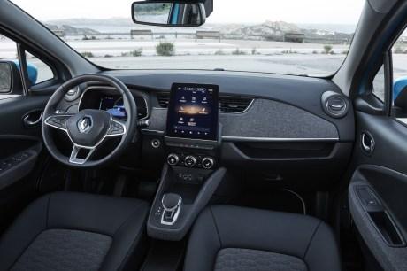 L'habitacle de la Renault Zoé // Source : Jean-Brice Lemal pour Renault France
