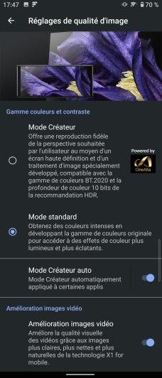 Interface Sony Xperia 5 II (5)