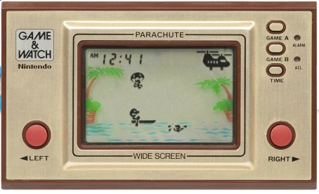 Le jeu Parachute sur Game and Watch // Source : Pica-Pic-60x60.com