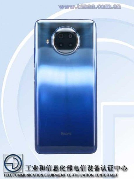 The back of the Redmi Note 9 Pro 5G // Source: TENAA