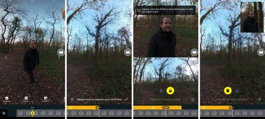 L'application propose l'intégration du multiview