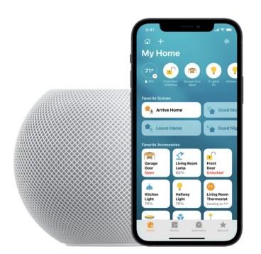 Le HomePod mini s'appuie sur l'app Maison pour tout piloter // Source : Apple