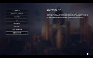 Les réglages d'accessibilité dans Watch Dogs Legion