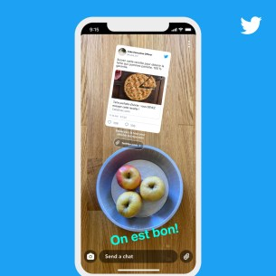Partager le Snap avec le tweet